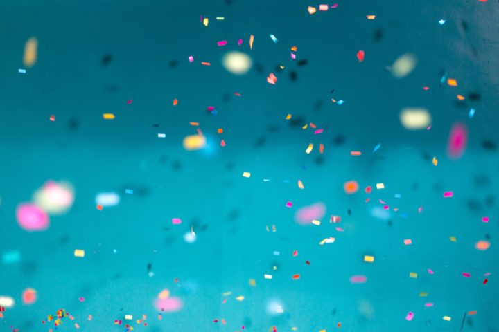 Confetti in the air