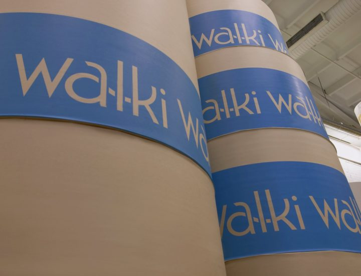 Image of reels with the Walki company logo